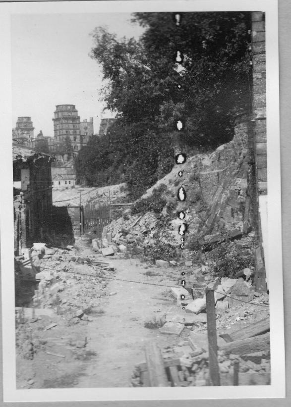 Foto von Alois Grimm 1946 Blick von Meisterschule Richtung Schloss